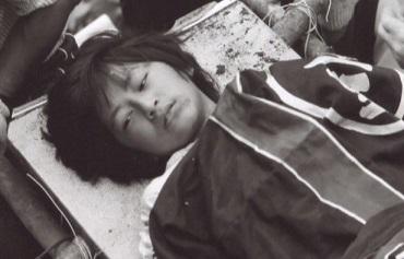 救出直後の川上慶子さん