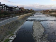 京都鴨川の秋2018鴨川の流れ