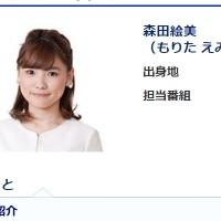 森田絵美アナ