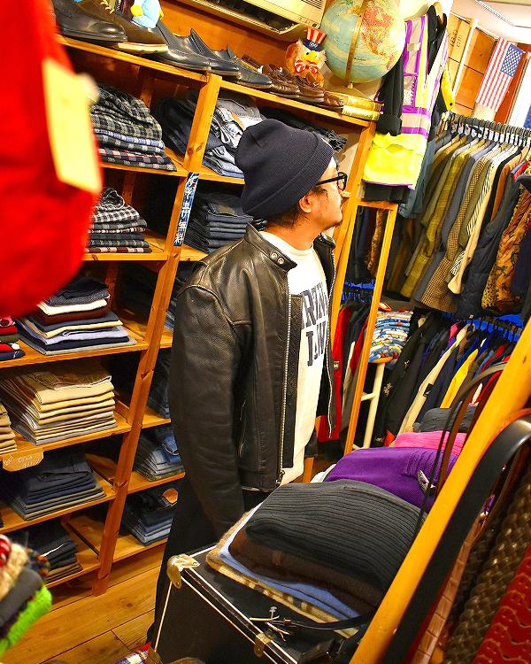 レザージャケット革ジャンUSEDメンズレディースブルゾン画像@古着屋カチカチ