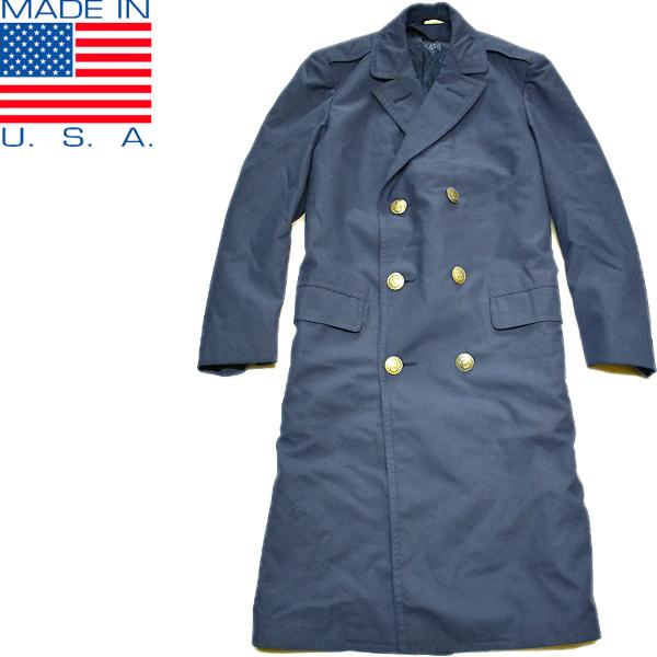 アメリカ軍ステンカラーコート画像メンズレディースコーデ@古着屋カチカチ