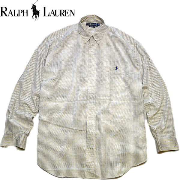 POLO Ralph Laureポロラルフローレン長袖チェックシャツ画像メンズレディースコーデ@古着屋カチカチ