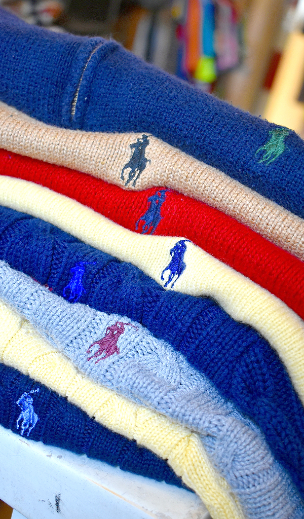 Ralph LaureラルフローレンRL50ニットセーター画像メンズレディースコーデ@古着屋カチカチ