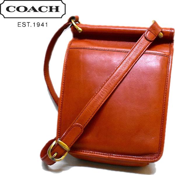 OLD Coachオールドコーチ画像レザーバッグUSEDトートショルダーバッグ@古着屋カチカチ