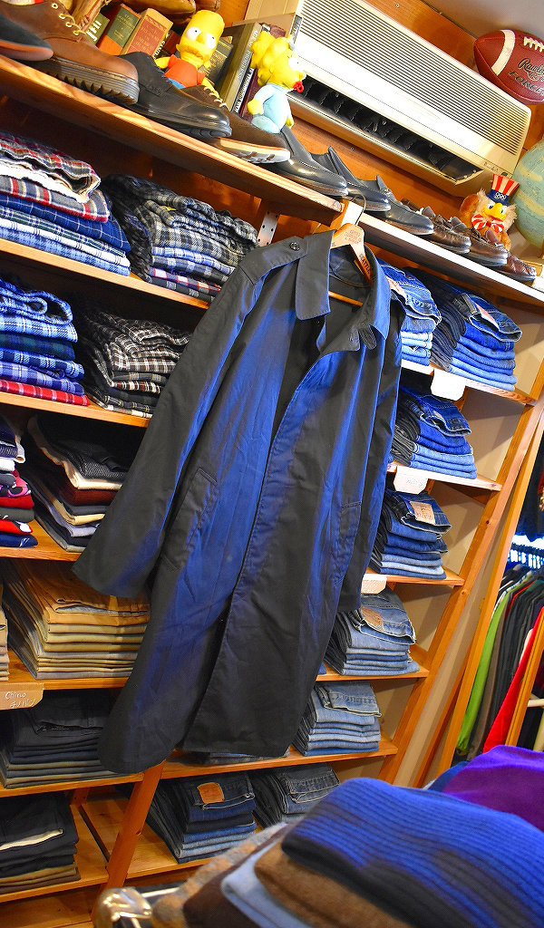 ステンカラーロングコートUSEDガウンパジャマローブ画像メンズレディースOK古着屋カチカチ