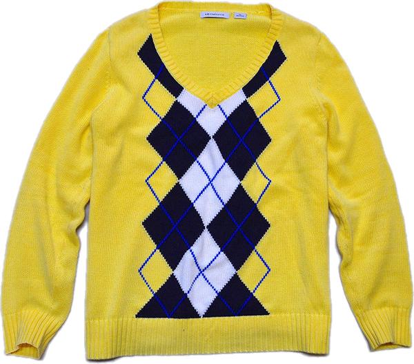 柄物USEDニットセーター画像@古着屋カチカチ (2)