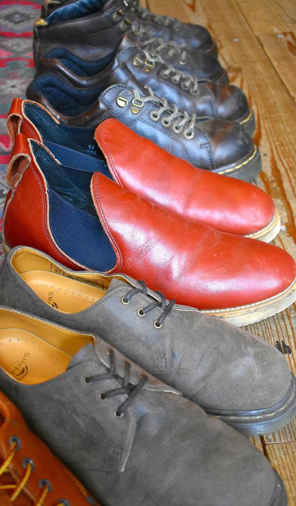 レザーシューズ革靴レザーブーツUSEDマーチンクラークス画像メンズレディースコーデ@古着屋カチカチ