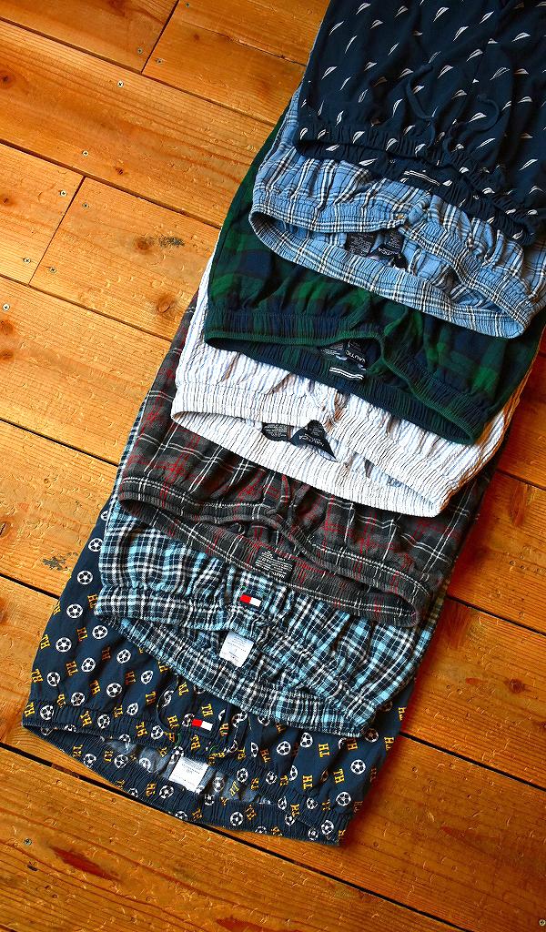 ノーティカNauticaトミーヒルフィガーTOMMYパジャマパンツ画像メンズレディースチェックパンツコーデ古着屋カチカチ