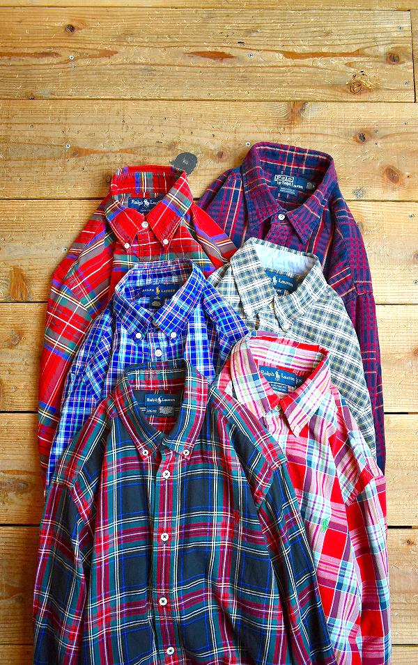 ポロラルフローレン長袖チェックシャツ画像メンズレディースコーデ古着屋カチカチ