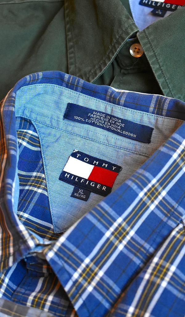トミーヒルフィガーTOMMY HILFIGER長袖チェックシャツ画像メンズレディースコーデ@古着屋カチカチ