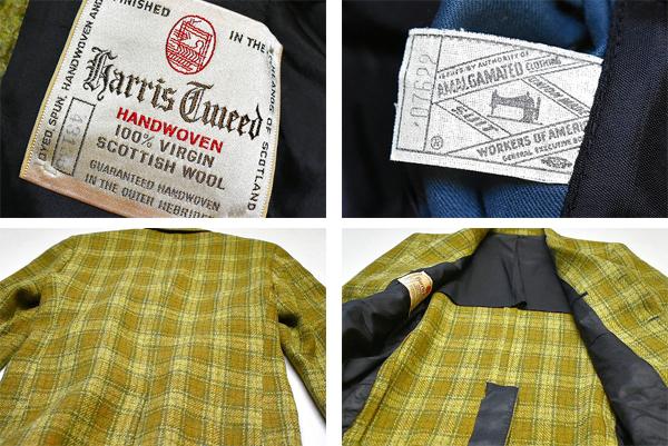 ウールツイードジャケット画像メンズレディースブレザーUsedテーラードジャケット古着屋カチカチ