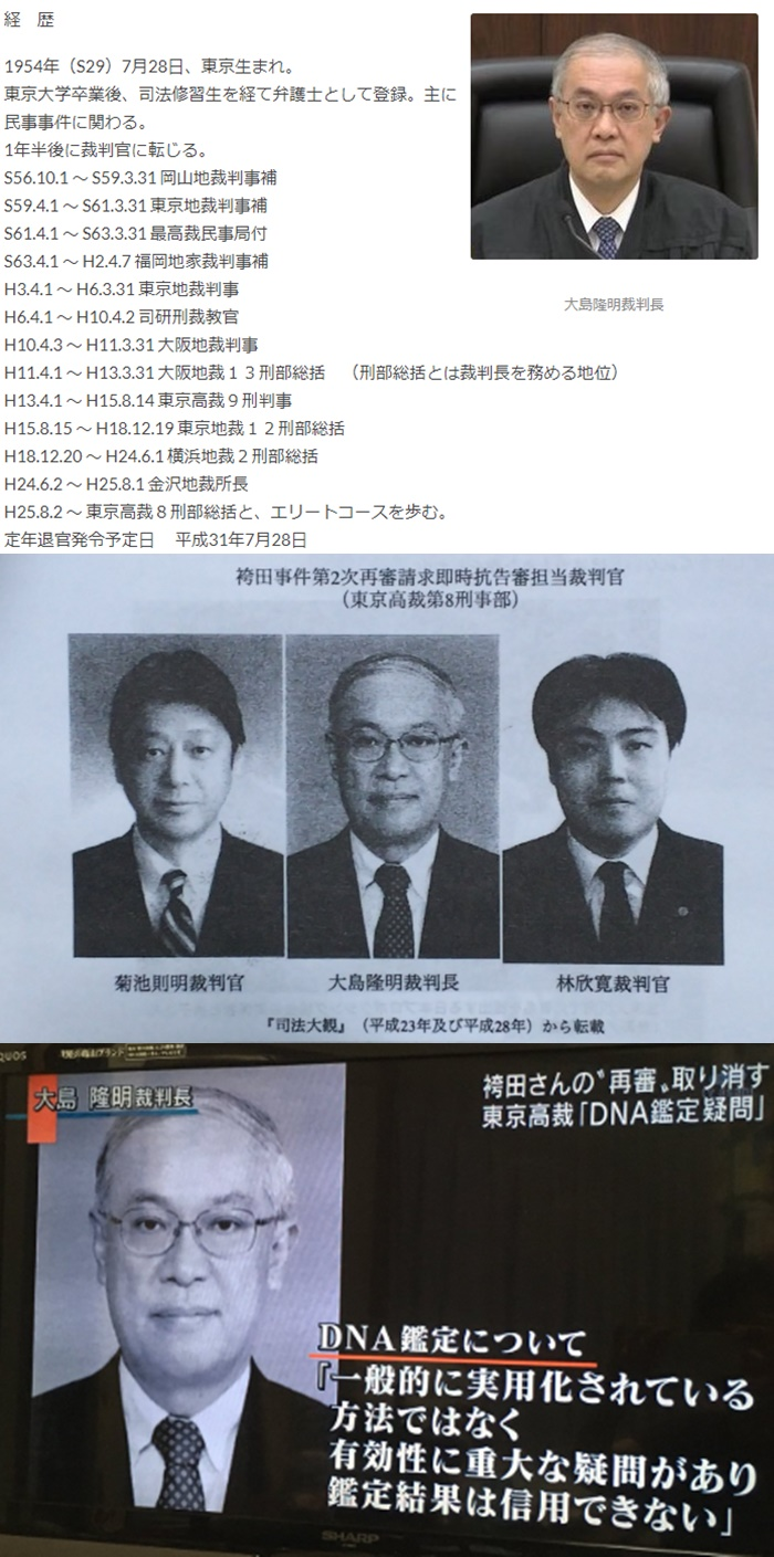 大島隆明 裁判官 日弁連懲戒委員委員 澤田雄二弁護士1