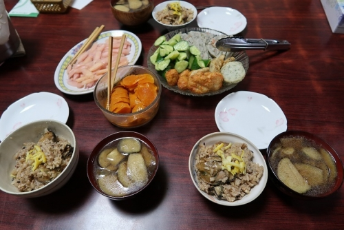 牡蠣飯と岩下の新生姜