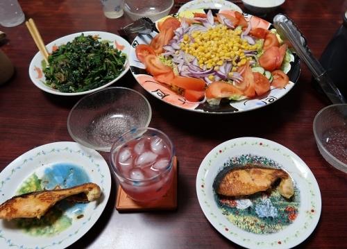 潮鮭、ツナコーンサラダ