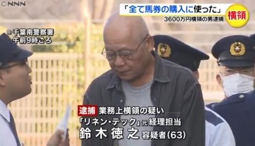 【競馬】会社の金でうっかり馬券を買ってしまった男を逮捕