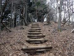 ②唐沢峠へ最後の急登です