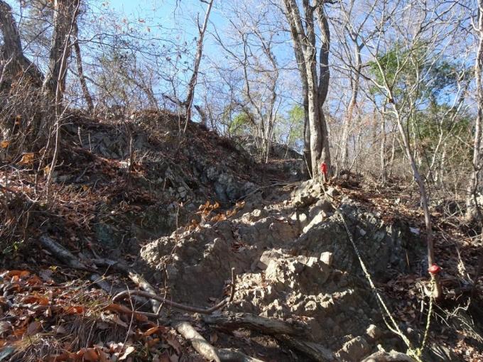 天狗岩を登る