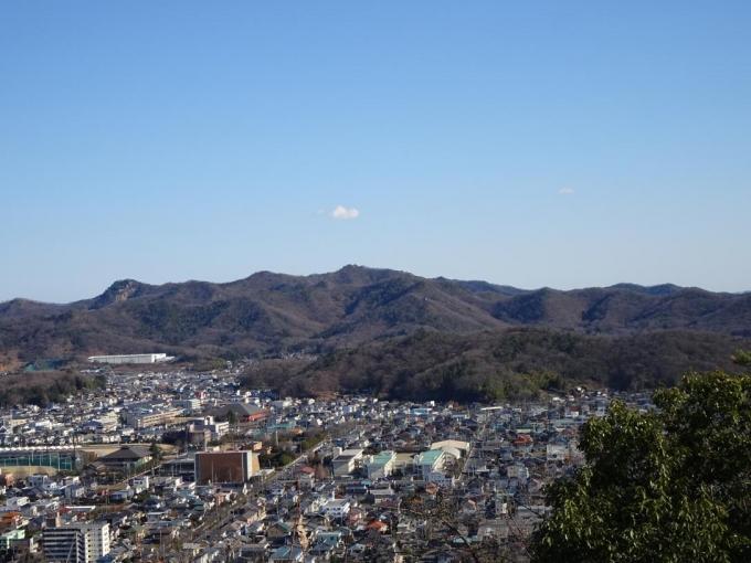 展望広場から大坊山