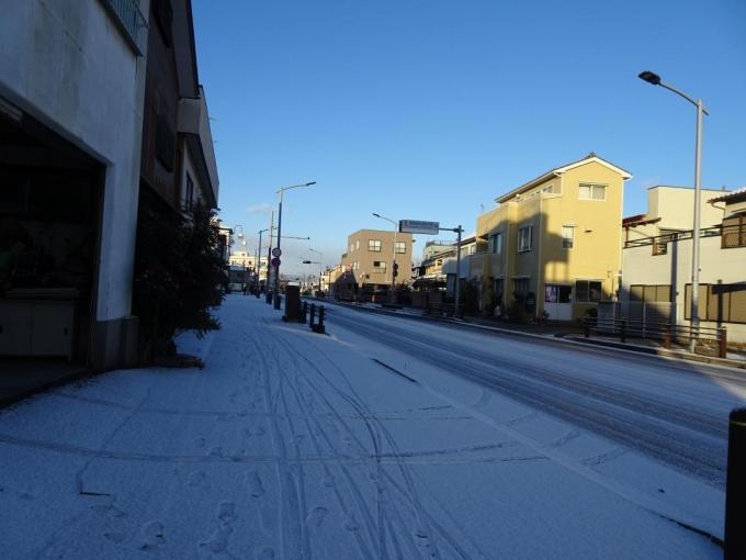 寒波襲来で降雪