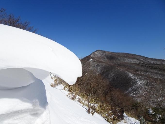 雪庇と荒山2