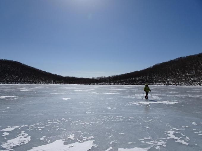 氷上をサクサクと
