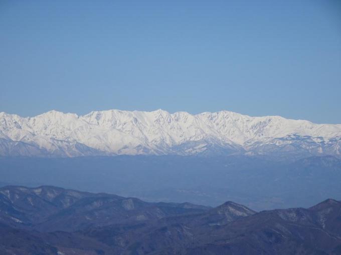 白馬三山から小蓮華山