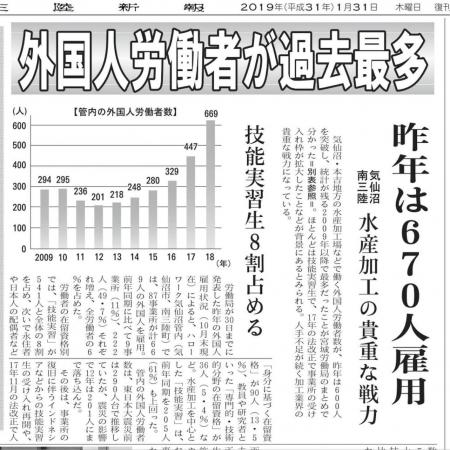 1月31日外国人労働者