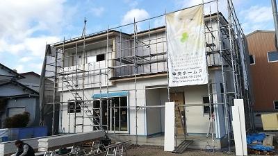 赤坂新町 竹中邸 外壁サイディング作業