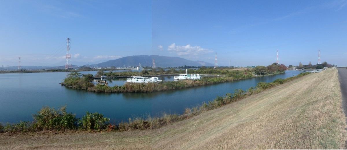 船頭平閘門から長良川