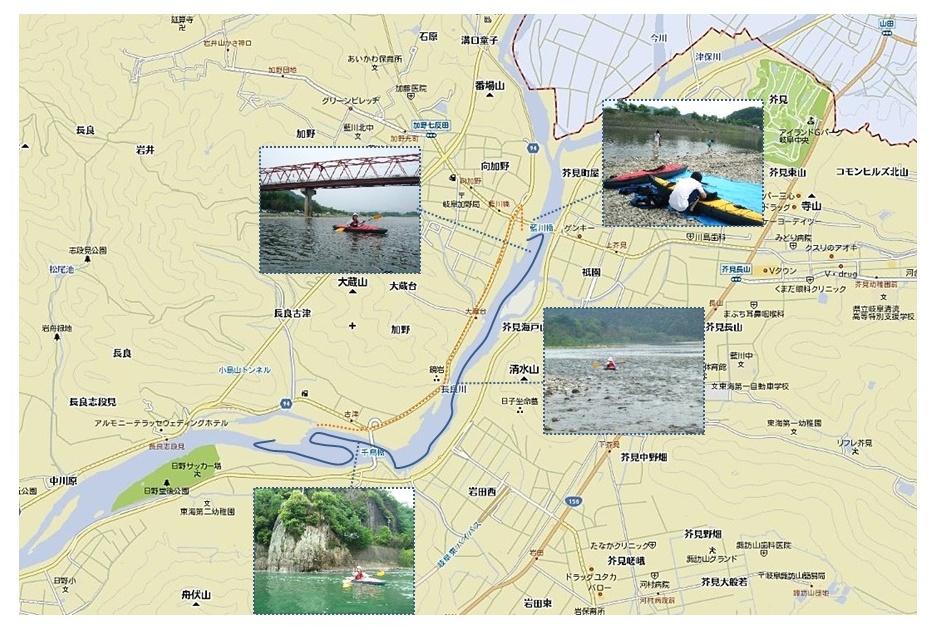 カヤック 藍川橋―千鳥橋 ルート