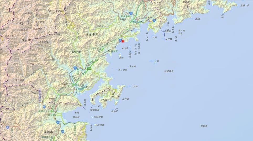 紀伊長島 赤野島 map