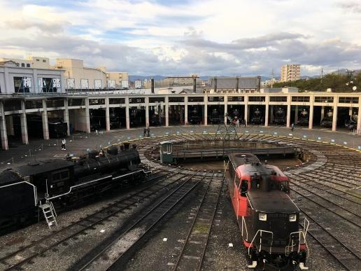 京都鉄道博物館の扇形車庫