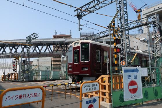 阪急淡路駅工事中04