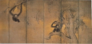 長谷川等伯「竹林猿猴図」(重文)