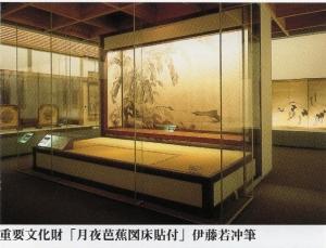 伊藤若冲「月夜芭蕉図床貼付」