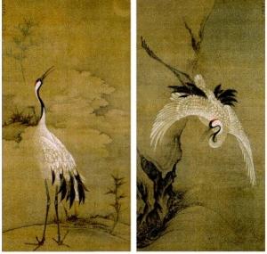 明時代 双福 文正筆「鳴鶴図」重要文化財