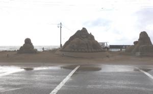千里浜レストハウス砂のオブジェ