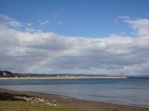 見附島の虹