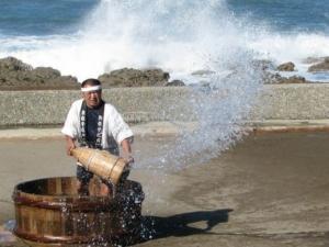 海水を撒く