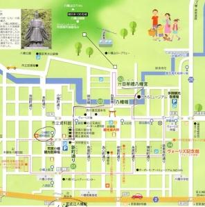 八幡堀の地図
