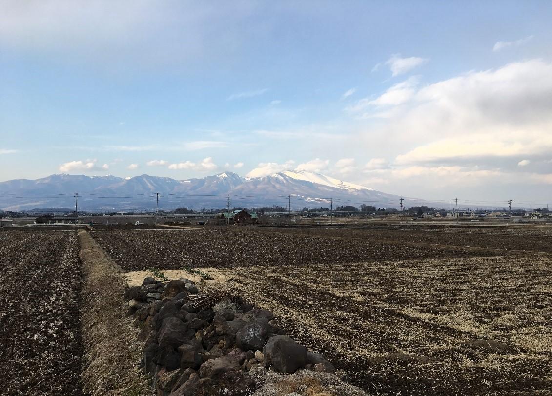 実家から見える浅間山