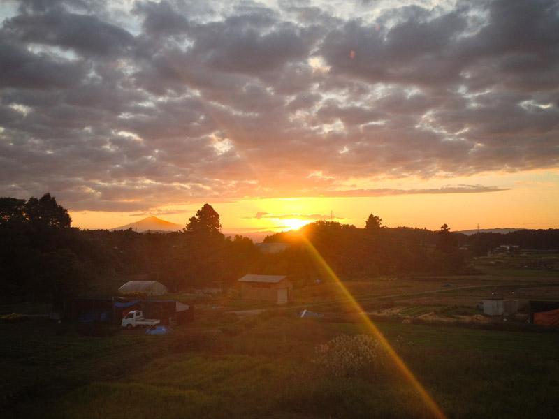 鳥海山と夕焼け