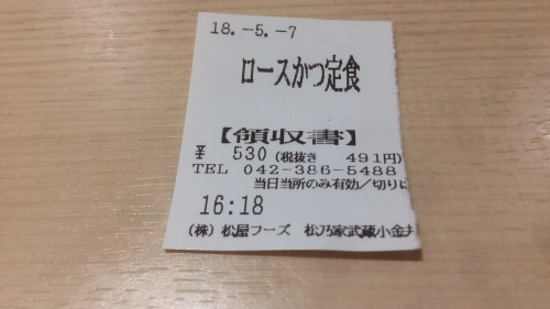 食券 16時18分