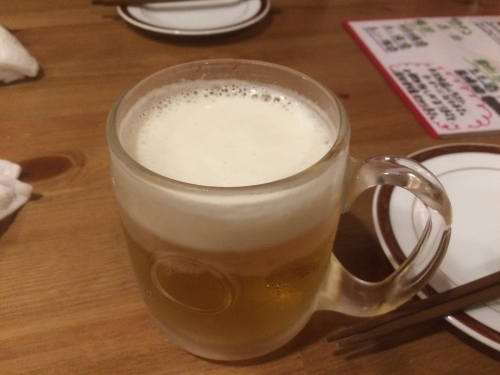 まずはビール(ハートランド)