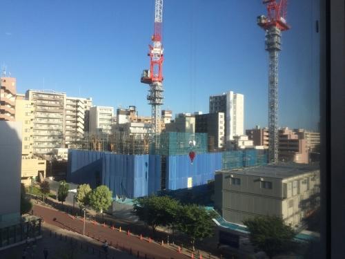7月2日のヨーカドウ4階から見た小金井再開発
