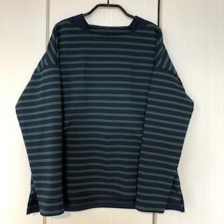 『muniのロックミシンで作るこども服』より大人のボートネックTシャツ♪