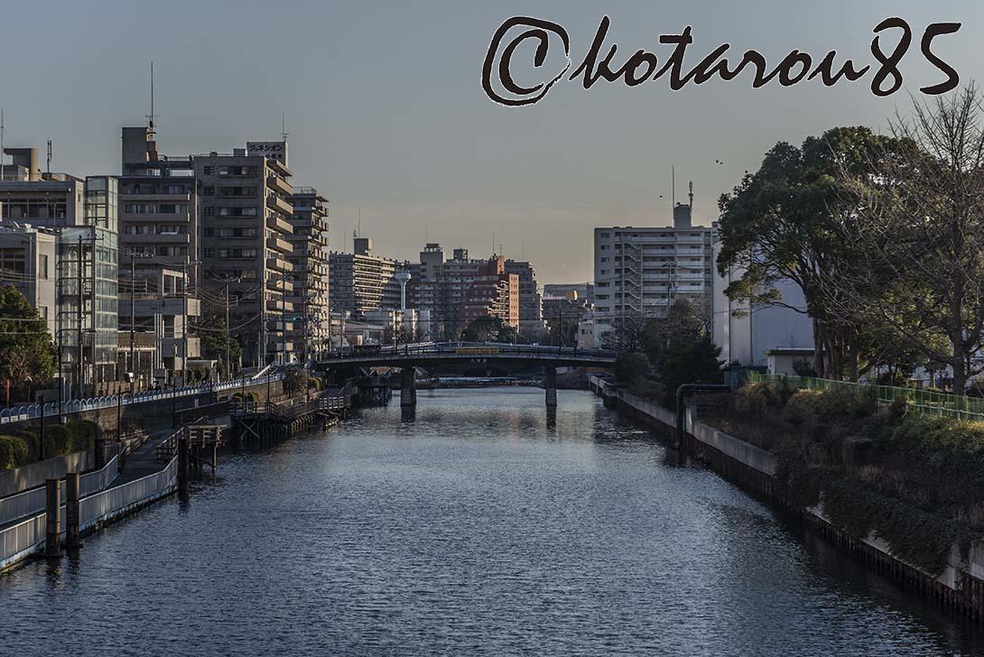 運河の街の夕暮れ 20190204