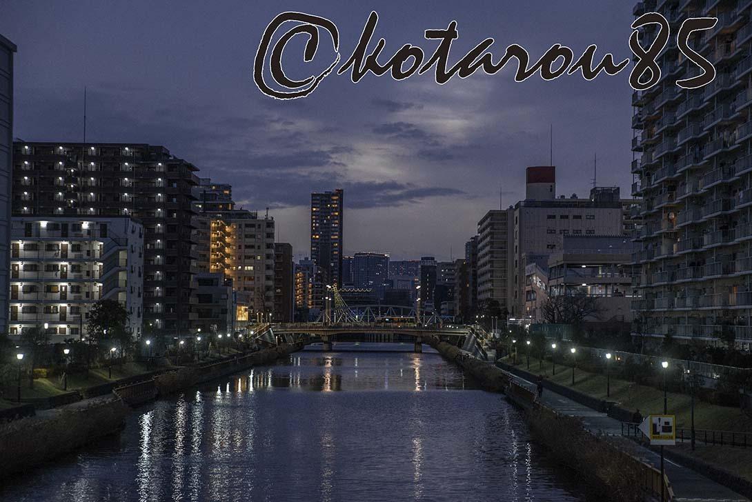 運河の街の夕暮れ3 20190204