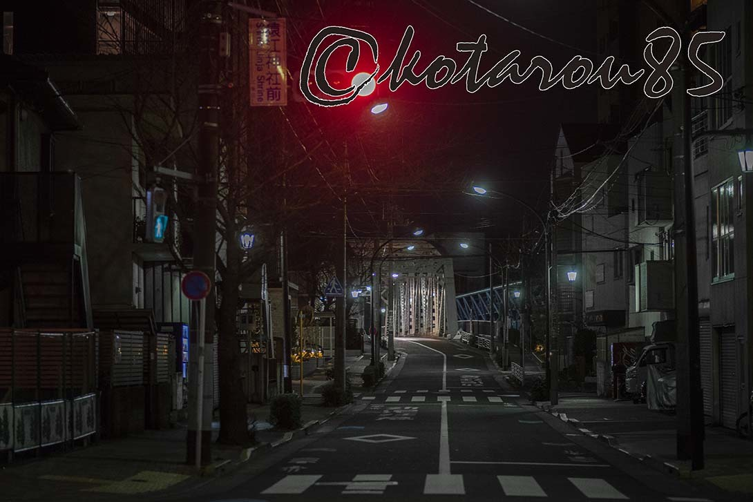 深夜の小松橋 20190218