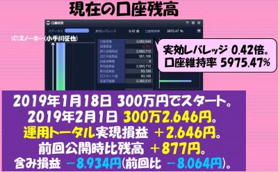 20190131ループイフダン検証口座残高